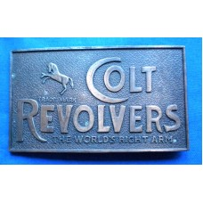 Colt Revolvers Brass Belt Buckle