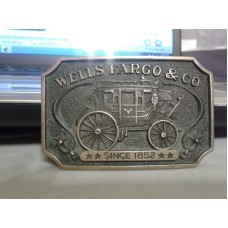 Vintage Wells Fargo Brass Buckle.1970's
