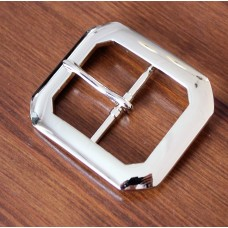 "Clipped Corner 1½"" (38mm) Belt Buckle Nickel Plated"
