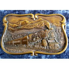 Bergamot Steam Train 1984 Brass Belt Buckle