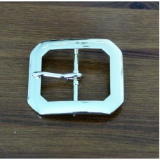 "Clipped Corner 1½"" (38mm) Belt Buckle Brass Plated"