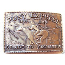 Pony Express Brass Buckle