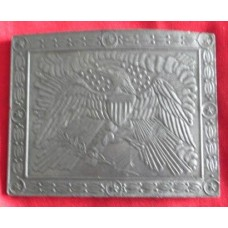 American Eagle Pewter Belt Buckle.