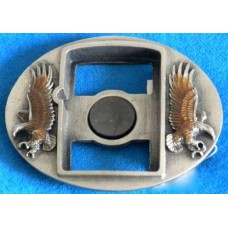 Eagle Belt Buckle for Zippo Lighter.Brown Eagle.