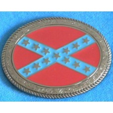 Confederate States Of America Oval Belt Buckle