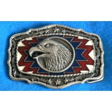 Eagle Head RWB Belt Buckle