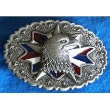 Eagle Head Oval Belt Buckle