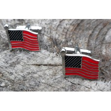 American Flag USA Patriotic Cuff Links