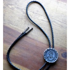 Bolo Tie Billy The Kid Concho and Nickel Plated Tips.