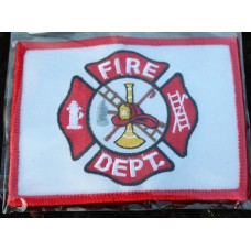 Cloth Sew-On Badge Fire Dept..