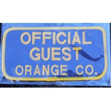 Cloth Sew-On Badge Official Guest Orange Co..