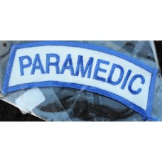 Cloth  Sew-On Badge Paramedic Curved.