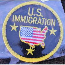 Cloth Sew-On Badge US Immigration.