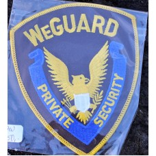 Cloth Badge We Guard Private Security.