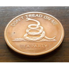 Don't Tread on Me Tea Party 1oz .999 Copper Coin.