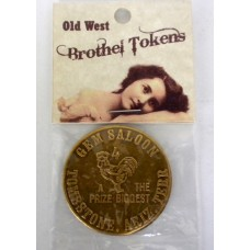 Old West Gem Saloon Brothel Token