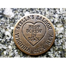 Stella's Saloon Virginia City. Nev. Brothel Token