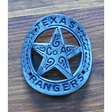 Texas Rangers Gun Butt Grip Badge