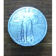 "1930 Liberty Quarter Concho 1"" ( 24mm)"