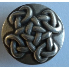 "Celtic Filigree Round Screw Back Concho.  1"". (25mm)"