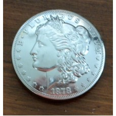 "1878 Morgan Dollar Concho  1½"" ( 38mm)"