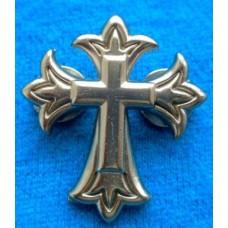 "Endearing Cross Silver Plate Conchos 1-1/8"" x 1-1/4"" (3 x 3.2 cm)"