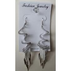 White Spiral Earrings