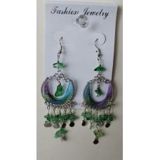 Color Magic Blue. Green. Purple Earrings