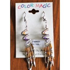 Color Magic  South West Spiral Purple Gold Design