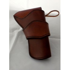 "Handmade Eldorado Holster Plain Design in Medium Brown 5"" RH:"