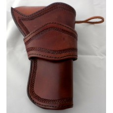 Handmade Eldorado Holster Rope Design Border Stamp in Medium Brown RH: