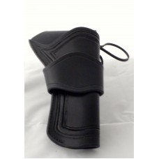 "Handmade Eldorado Holster Double Border Line Design in Black 5½"" RH:"