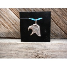 Sterling Silver Eagle Head Pendant