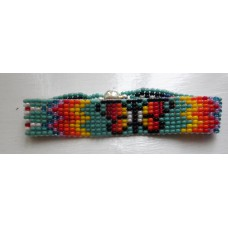 Handmade Beaded Bracelet with Magnetic Butterfly.