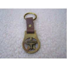 Marlboro Brass Logo Watch Fob With Strap and Key Ring