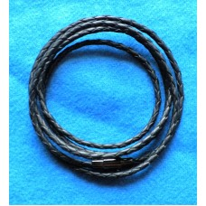 Handmade Black Leather Necklace/ Bracelet with 2.5mm Cord.