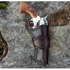 Handmade Eldorado Holster Link Design Border Stamp in Dark Brown RH: