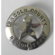 Lincoln County Regulators Badge