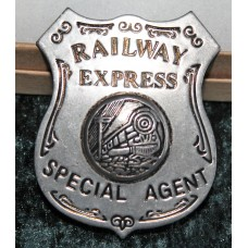 Railway Express Special Agent Badge Pre Owned.