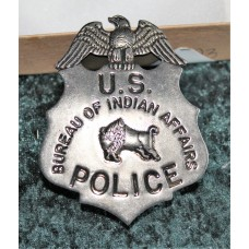 Bureau of Indian Affairs Badge Pre Owned.