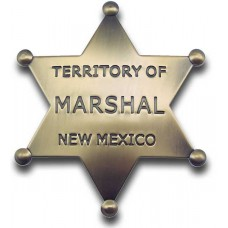 Marshal  Territory of New Mexico Brass