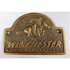 Winchester Antique Brass Finish Plaque