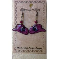 Spirit Of Nature Cowboy Hat Kokopelli Earrings Light Purple