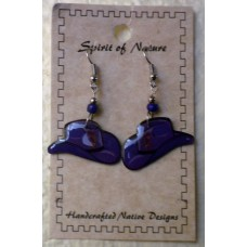 Spirit Of Nature Cowboy Hat Kokopelli Earrings Purple