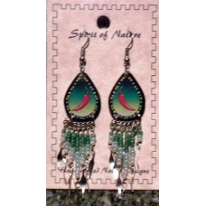 Spirit Of Nature Chili Earrings Green