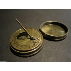 Brass Compass. Sun Dial