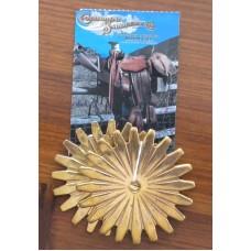 """Colorado Saddlery 2¼"""" Brass Rowels. (55mm)"""
