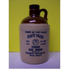 Half Pint Mc Cormick Straight Corn Whiskey Stone Jar 1959