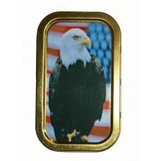 Eagle With USA Flag 1oz Tin