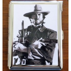 Clint Eastwood Collectors Cigarette Case, ID Card and Lighter OJW.